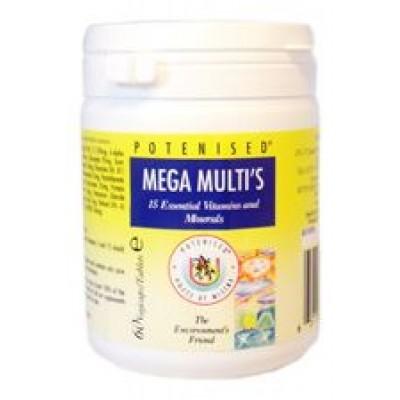 Mega multi with 15 essential vitamins and minerals (60 Veg Caps)