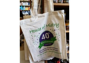 Mistry's 40th anniversary reusable shopping bag