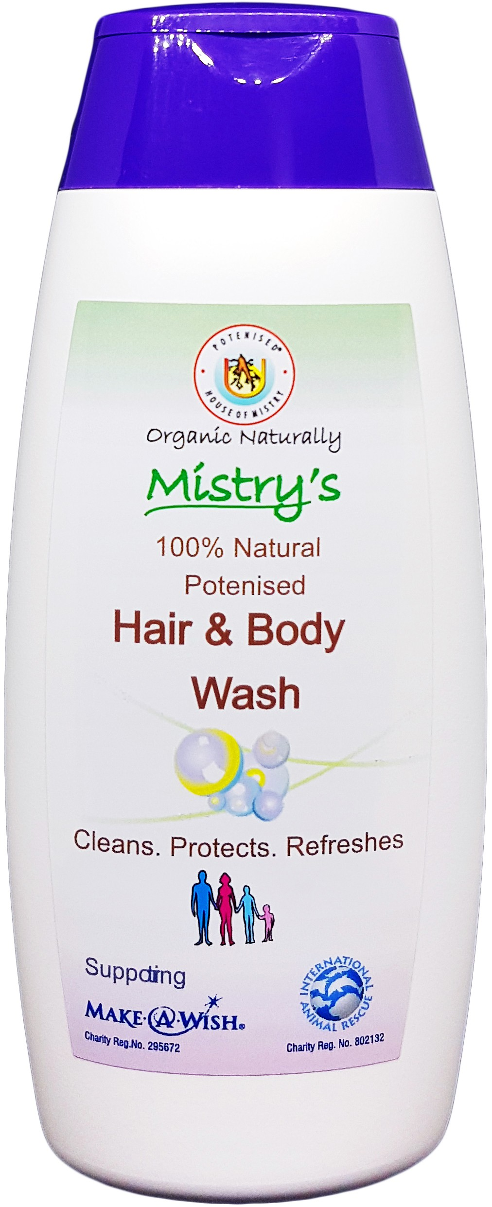 Mistry's Hair & Body Wash 200ml - Cleans, Protects, Refreshes